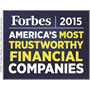Forbes 2015 America's Most Trustworthy Financial Companies badge
